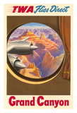 Grand Canyon  Arizona - Trans World Airlines TWA Flies Direct