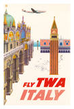 Italy - Piazza San Marco (St Mark Plaza) - Trans World Airlines Fly TWA