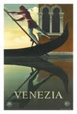 Venezia - Venice  Italy - Venetian Gondola Gondolier