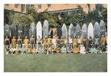 Duke Kahanamoku and Surfing Friends