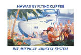 Hawaii by Flying Clipper - Pan American Airways System (PAA) - Honolulu Clipper Boeing 314