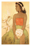 Hula Dancer  Hawaii - Menu Cover for The Royal Hawaiian Hotel (Pink Palace of the Pacific)