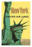 New York - United Air Lines - Statue of Liberty