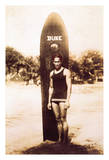 Duke Kahanamoku - Portrait of the Famous Hawaiian Surfer and Olympic Gold Medalist