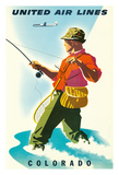Colorado - United Air Lines - Fisherman  Fly Fishing