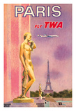 Paris  France - Trans World Airlines Fly TWA