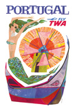 Portugal Fly TWA - Trans World Airlines - Mermaid Windmill