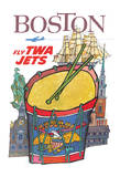 Boston  Massachusetts - Trans World Airlines Fly TWA Jets