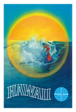 Hawaii - Pan American Airlines (PAA) - Hawaiian Surfer