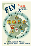 Fly Round South America - Pan American - Panagra Pan American World Airways System