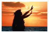 To Ask A Blessing (Pule Hoopmaikai) - Hula Dancer at Sunset
