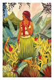 Hawaii Nei - Cover Frontispiece from the book Hula Moons - Illustrated