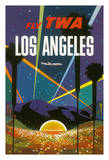 Los Angeles - Trans World Airlines Fly TWA - Hollywood Bowl Giclée