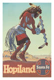 Arizona - Hopiland - Santa Fe Railroad - Pueblo Native American Buffalo Dancer