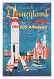 Fly TWA Los Angeles - Trans World Airlines - Disneyland's Tomorrowland TWA Moonliner Giclée