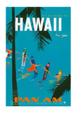 Jet Clippers to Hawaii - Pan American Airlines (PAA) - Hawaiian Surfers Linking Hands