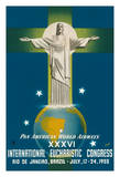 Rio De Janeiro  Brazil - Pan American World Airways - XXXVI International Eucharistic Congress