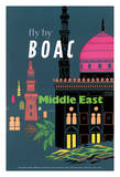 Middle East - British Overseas Airways Corporation Fly by BOAC