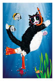 Snorkel Kitty - Underwater Snorkeling Cat