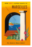 Marseilles  Direct Clipper Flights To Marseilles - Pan American World Airways (PAA)