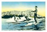 Sea Gods - Surf Riders  Waikiki Hawai'i - Diamond Head Crater