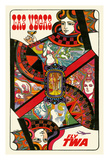 Las Vegas  Nevada - Trans World Airlines Fly TWA - Queen Playing Card