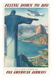 Flying Down to Rio Brazil - Pan American Airways (PAA) - Christ the Redeemer Statue