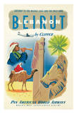 Beirut  Lebanon by Clipper - Pan American World Airways (PAA) - Gateway to the Middle East