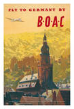 Fly to Germany by BOAC - British Overseas Airways Corporation
