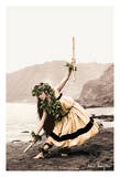 Pua with Sticks (Kala'au) - Hawaiian Hula Dancer