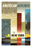 To New York - American Airlines Giclée par Weimer Pursell