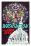 Washington DC - Trans World Airlines Fly TWA Jets - American Eagle Freedom Fireworks