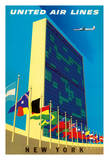 United Nations Building  New York - United Air Lines