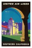 Southern California - Spanish Mission - United Air Lines