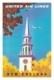 New England - United Air Lines - Georgian Steeple
