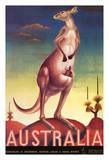 Australia - Australian Kangaroo with Baby Joey