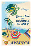 Jamaica and Columbia via Jet - Avianca National Airways of Colombia