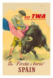 The La Fiesta del Toros (The Festival of the Bulls) in Spain - Trans World Airways Fly TWA