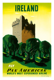 Ireland - Irish Castle - Pan American Airlines (PAA)