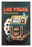 Las Vegas  Nevada - United Air Lines - Slot Machine