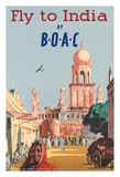 Fly to India by BOAC - British Overseas Airways Corporation