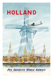 Holland - Netherlands Dutch Windmill - Pan American World Airways (PAA)