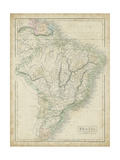 Map of Brazil Reproduction d'art par Sidney Hall