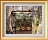 Eugene Manet Art texturé encadré par Berthe Morisot