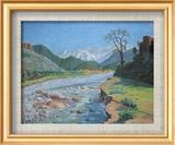 Valley of the Ourika Art texturé encadré par Sir Winston Churchill