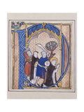 Illuminated Initial Depicting Assassination of St Peter Martyr