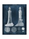 Lighthouse Blueprint Reproduction d'art par Vision Studio