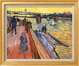 The Bridge at Trinquetaille Art texturé encadré par Vincent Van Gogh