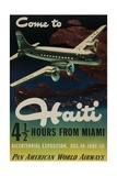 Come to Haiti Pan American World Airways Travel Poster