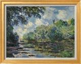 Section of the Seine, near Giverny Art texturé encadré par Claude Monet
